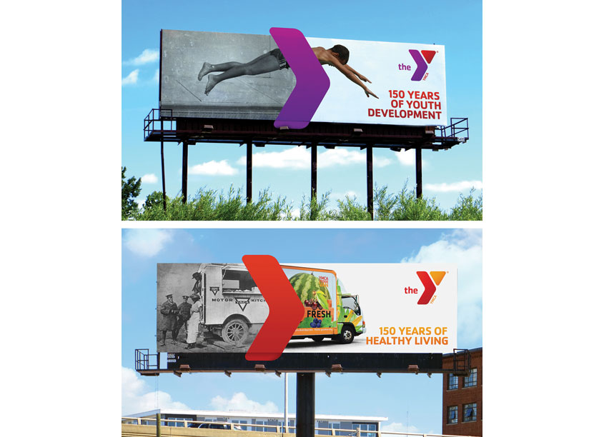YMCA 150th Anniversary OOH Campaign by Extra Credit Projects