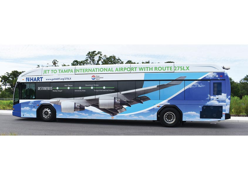 HART 275LX Bus Wrap by Hillsborough Area Regional Transit Authority
