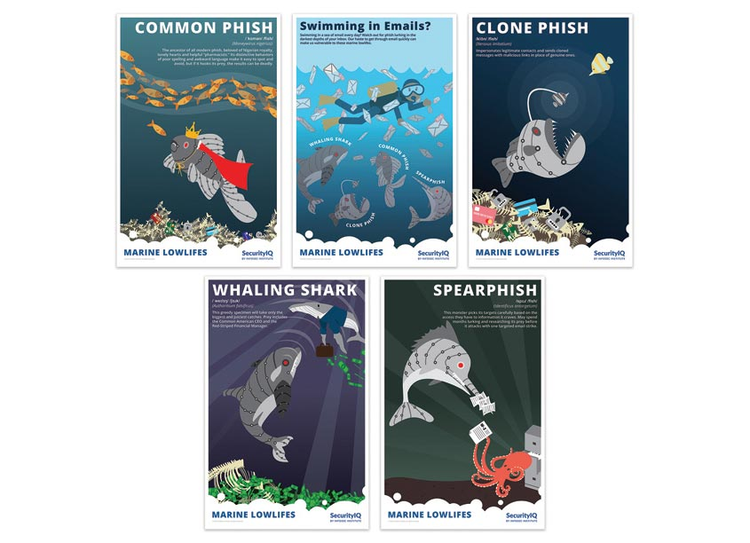 Marine Lowlifes Poster Series by InfoSec Institute