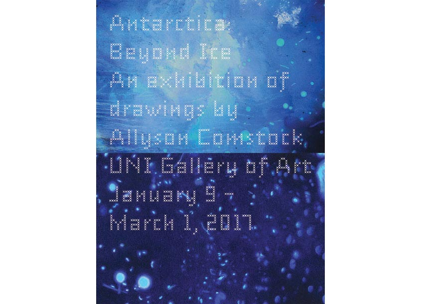 University of Northern Iowa (UNI) Department of Art Allyson Comstock Invitation
