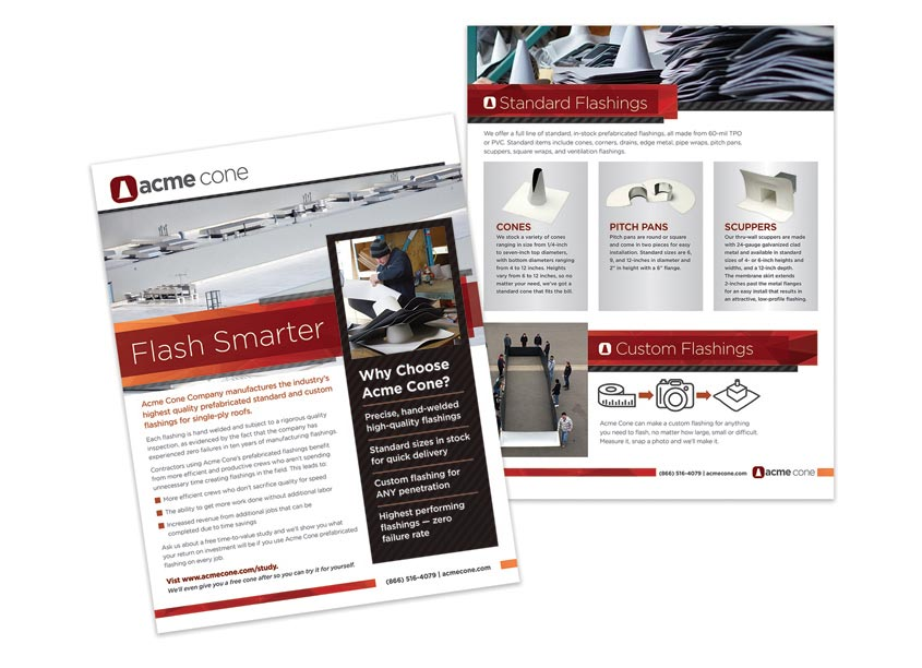 Acme Cone Flash Smarter Sell Sheet by 6sides Marketing