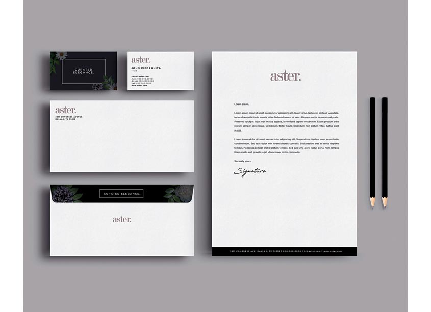 Aster Stationery Set by Streetsense