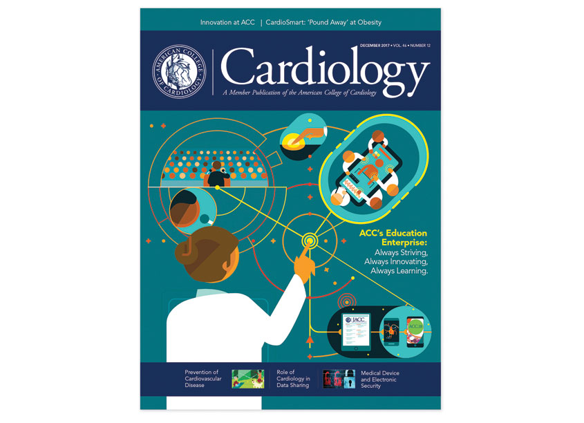 Cardiology Magazine Cover, December 2017, ACC's Education Enterprise by American College of Cardiology