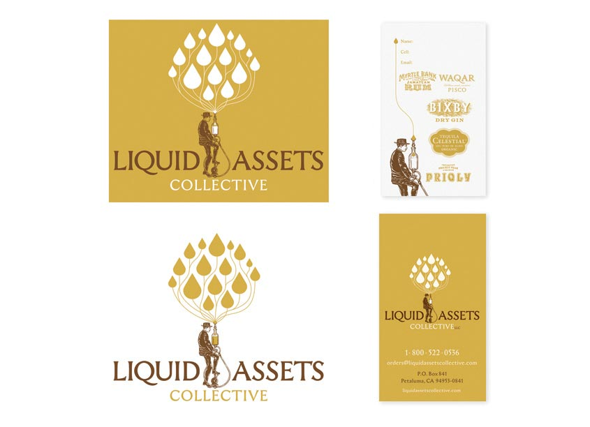 Axion Design Inc. Liquid Assets Collective Brand Identity
