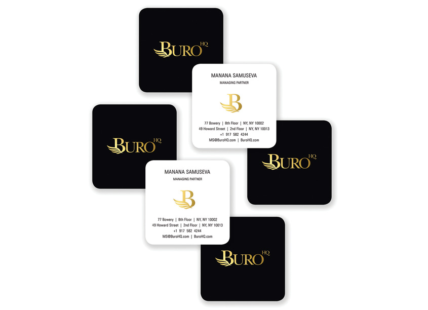 Buro HQ Business Cards by Mermaid, Inc.