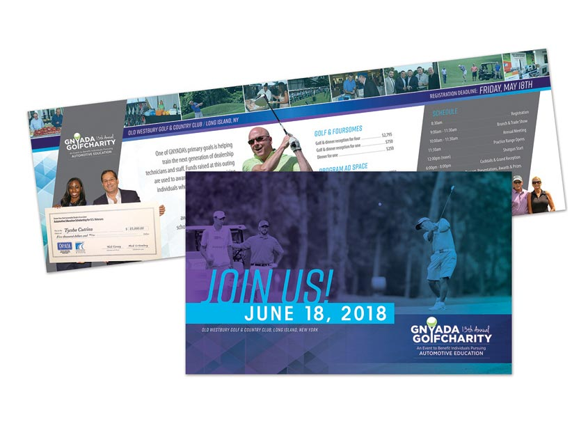 2018 Golf Outing Invitation by Design Tree Studios
