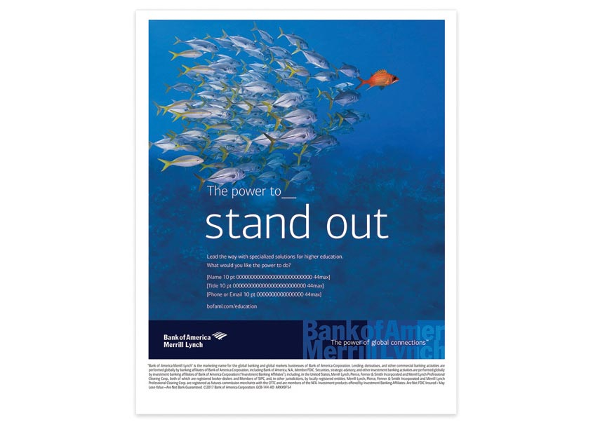 Bank of America, Enterprise Creative Solutions Higher Education Industry Stand Out Ad