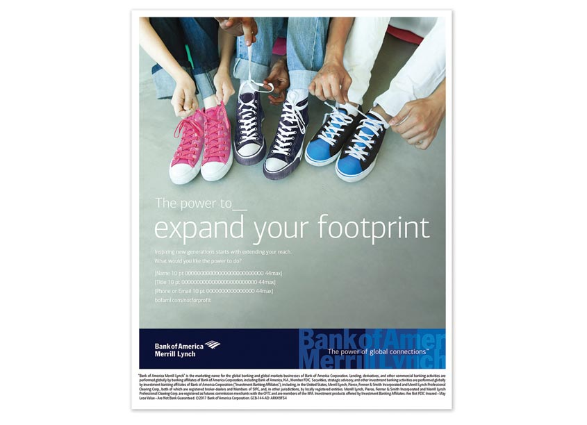 Bank of America, Enterprise Creative Solutions Not-For-Profit Industry Expand Your Footprint Ad