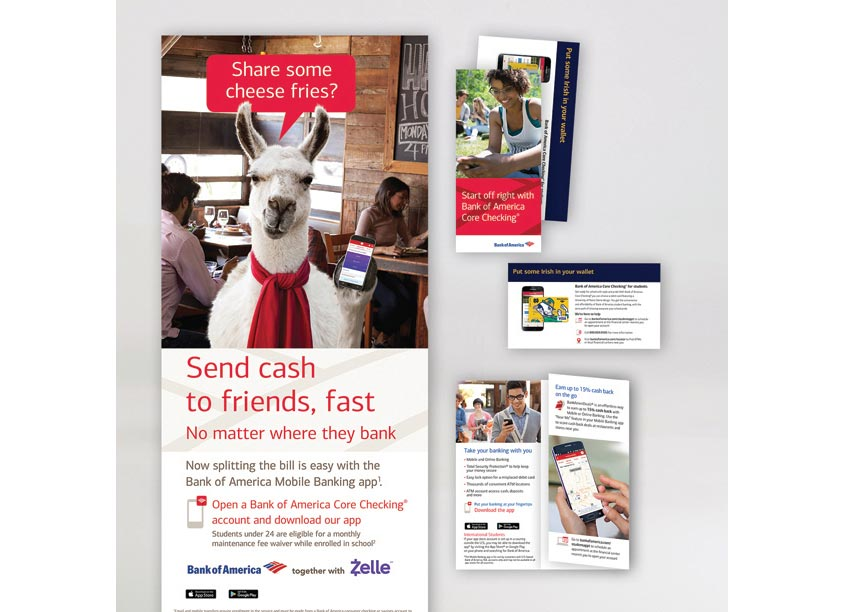 Student Banking Campaign by Bank of America, Enterprise Creative Solutions