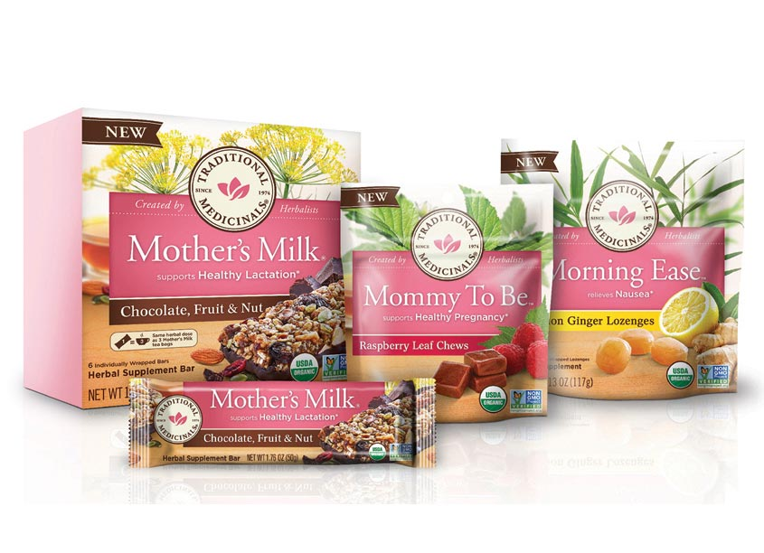 Sloat Design Group Mother's Milk Bars, Mommy To Be Chews & Morning Ease Lozenges Packaging