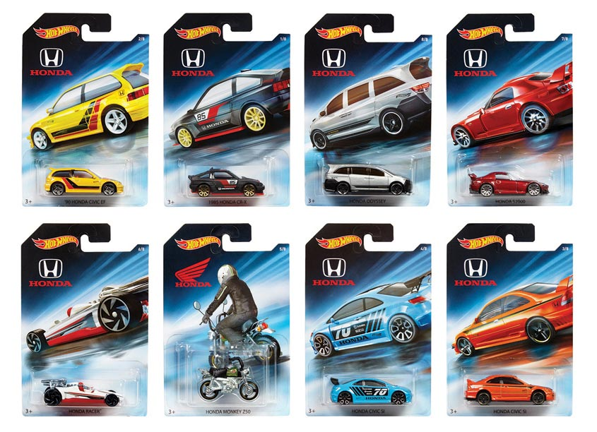 Mattel, Inc. Hot Wheels® Honda 70th Anniversary Assortment