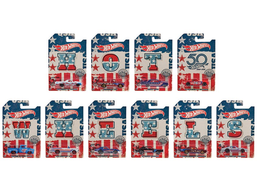 Mattel, Inc. Hot Wheels® Stars and Stripes Assortment