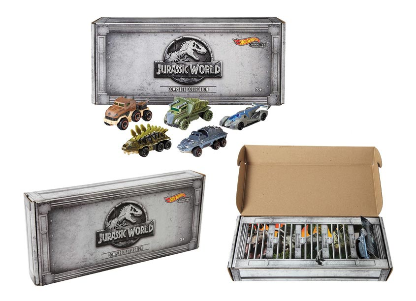 Mattel, Inc. Hot Wheels® Jurassic World Character Car 5 Pack