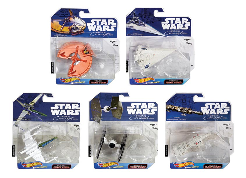 Mattel, Inc. Hot Wheels® Star Wars® Concept Starships Assortment