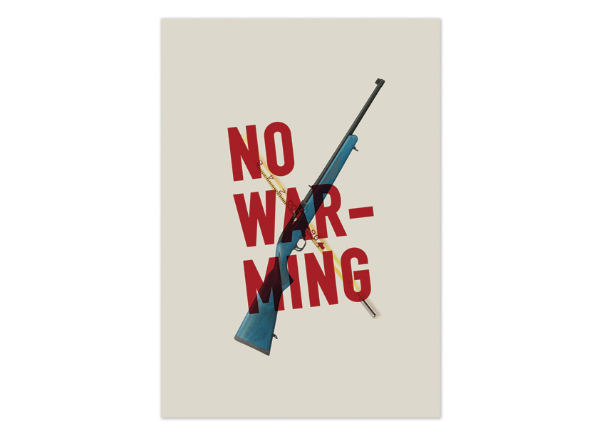 No Warming Poster by PrattMWP College of Art and Design