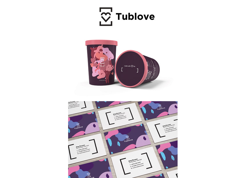 Tublove Froyo Brand Identity by PrattMWP College of Art and Design