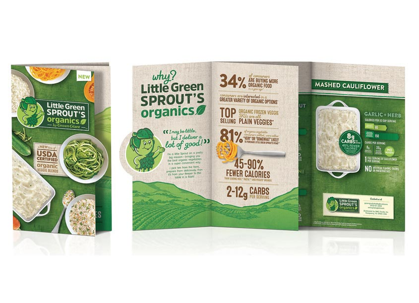 Green Giant Sprouts Brochure by Smith Design