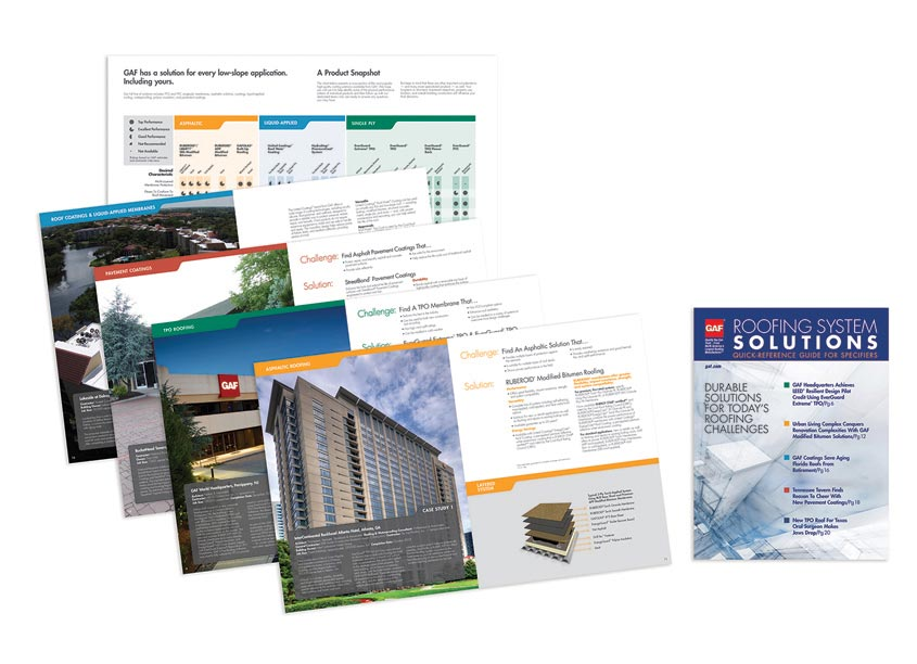 GAF/Creative Design Services Quick Reference Guide for Specifiers Brochure