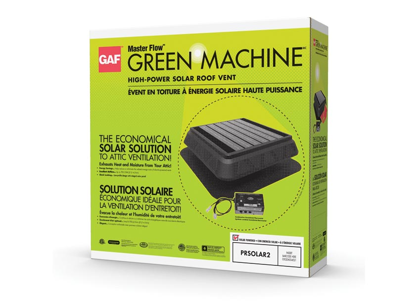 GAF/Creative Design Services Masterflow Green Machine