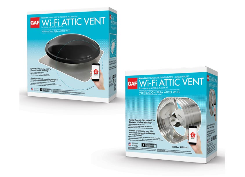 GAF/Creative Design Services Masterflow Wifi Vents Packaging