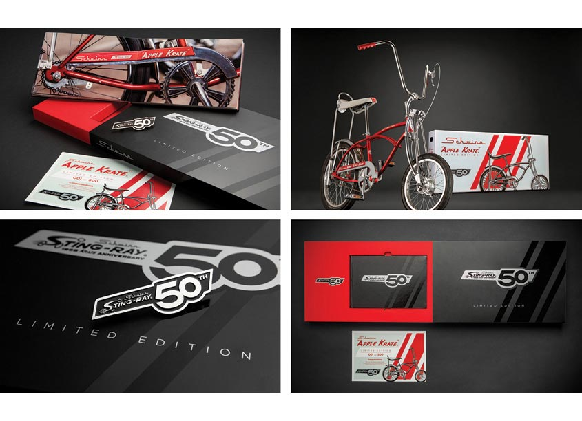 Schwinn Apple Krate 50th Anniversary Packaging by Pacific Cycle