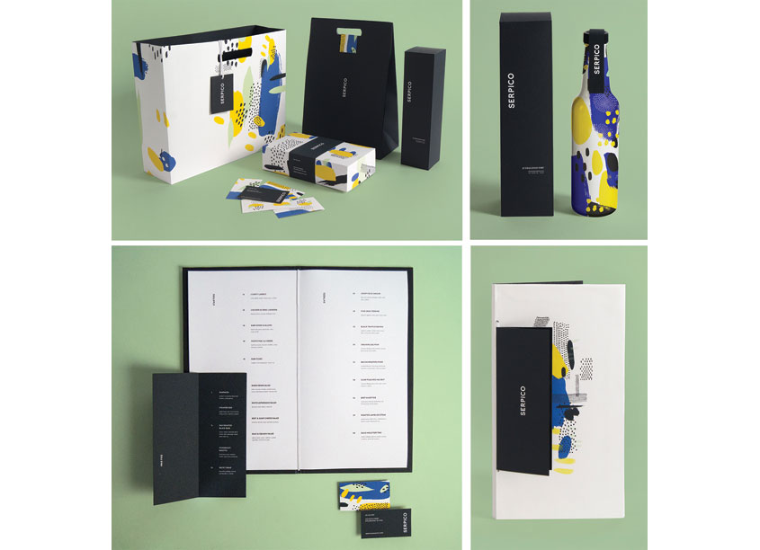 Serpico Restaurant Identity by Drexel University, Antoinette Westphal College of Media Arts & D