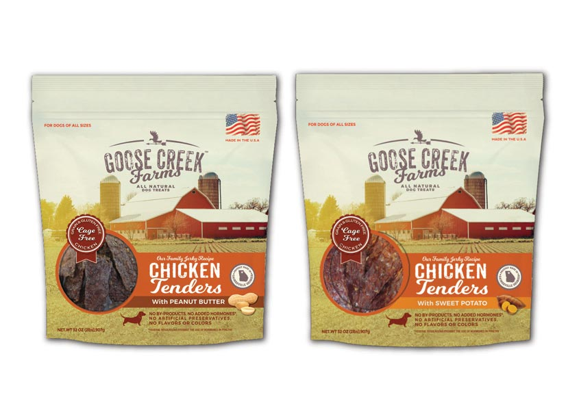 Goose Creek Farms Dog Treats by wink design group