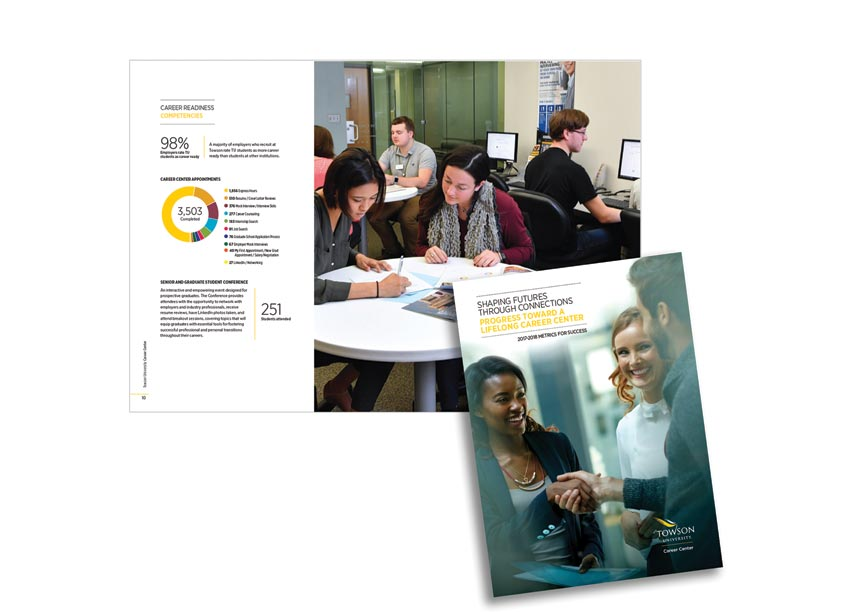 Shaping Futures Through Connections - 2017-2018 Metrics For Success by Towson University Creative Services
