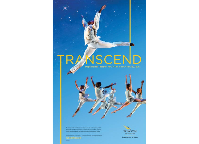 Towson University Creative Services Transcend Poster