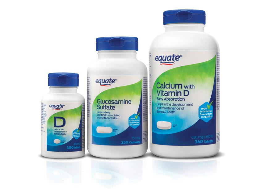 Bridgemark Equate Vitamins Packaging