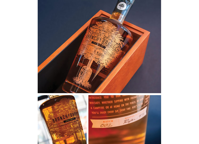 Ellen Bruss Design Branch & Barrel Whiskey Packaging