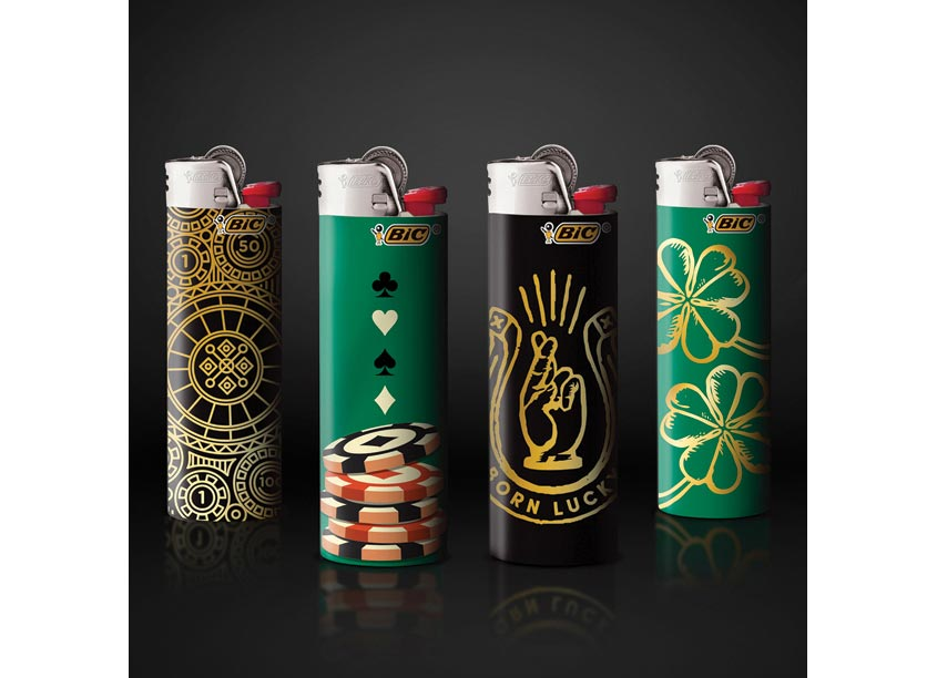 Wallace Church Bic Pocket Lighters - Casino Edition Associate