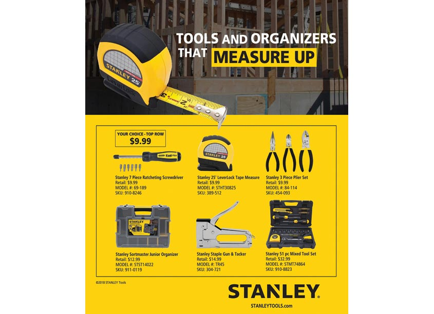 Stanley Tools and Organizers Office Depot Ad by Randy Richards Design