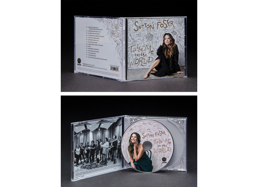Sutton Foster Album Cover Design by Studio 165+ | Ball State University School of Art
