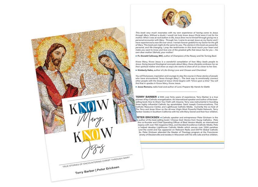 Know Mary Know Jesus Book Design by Laura Wire