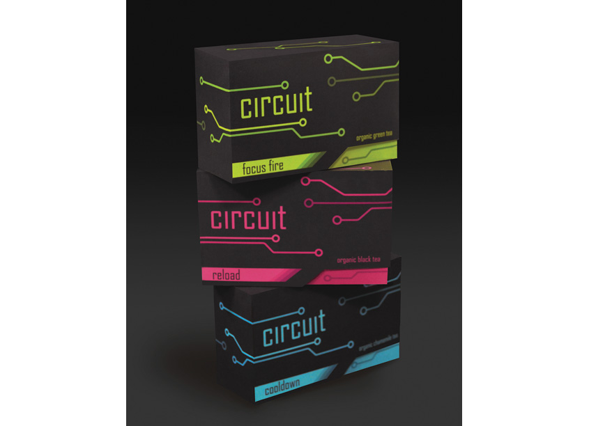 Circuit Tea Brand and Packaging Concept by Texas State University - Communication Design