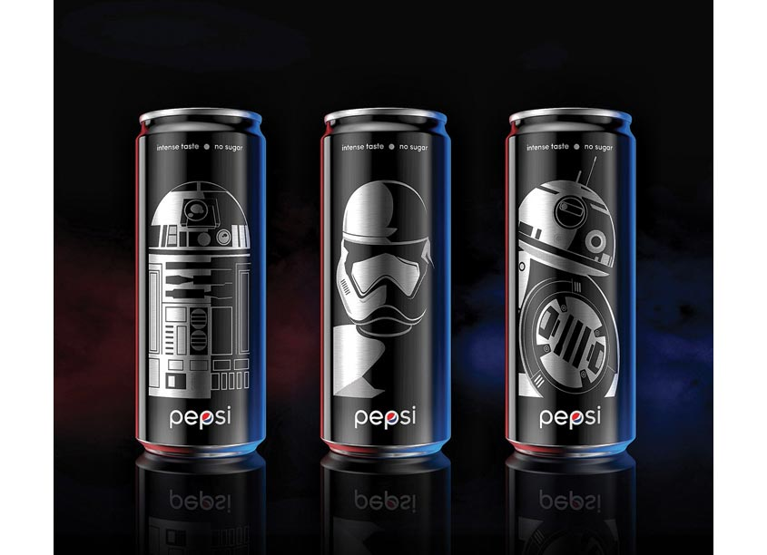 PepsiCo Design & Innovation Pepsi Black x Star Wars Limited Edition Cans China
