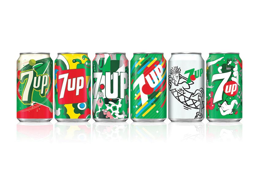 PepsiCo Design & Innovation 7UP Vintage Packaging 2018