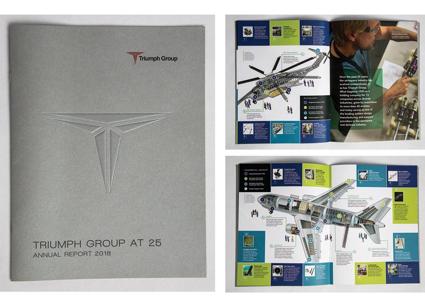 2018 Annual Report - Triumph Group at 25 by Warkulwiz Design Associates