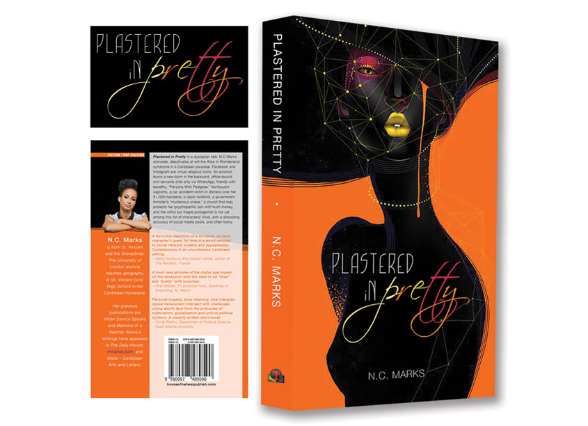 House of Nehesi Publishers Book Cover Design: Plastered In Pretty