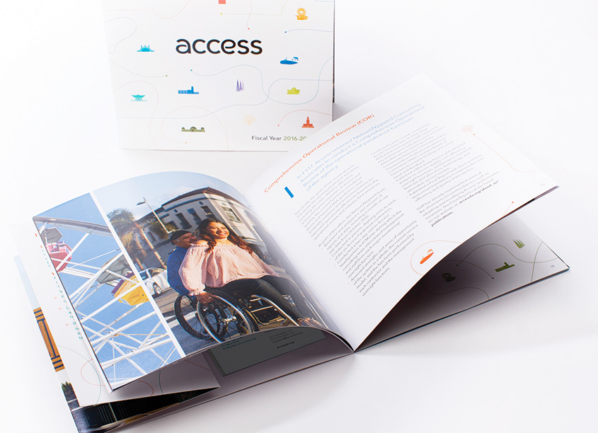 2018 Access Services Annual Report by Olive + Spark Design Studio