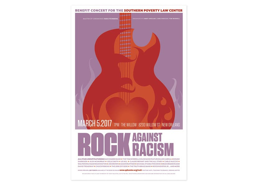 Rock Against Racism Poster by Southern Poverty Law Center