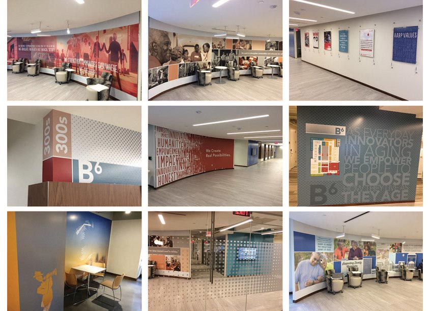 AARP Brand Creative Services AARP 2018 Building Renovation Graphics