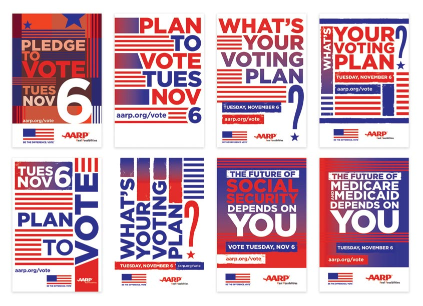 AARP Brand Creative Services AARP VOTE Postcard Series