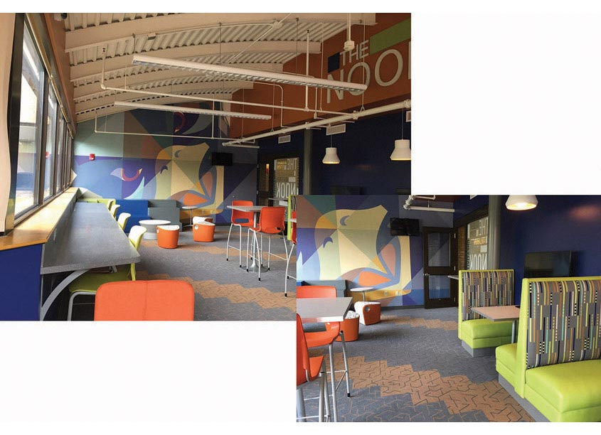The Nook Informal Learning Space Graphics by Anne Arundel Community College
