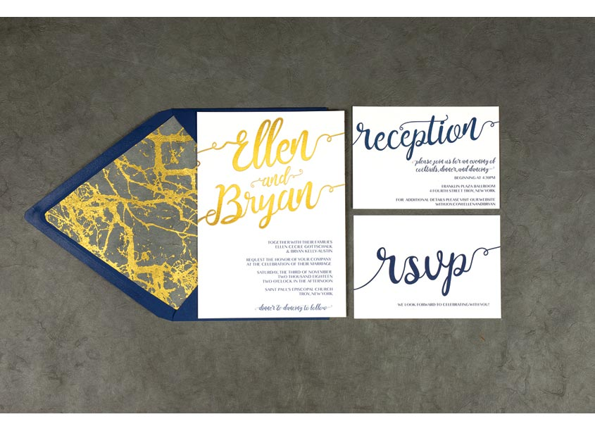 artistcalledparis.com Wedding Invitation for Ellen and Bryan