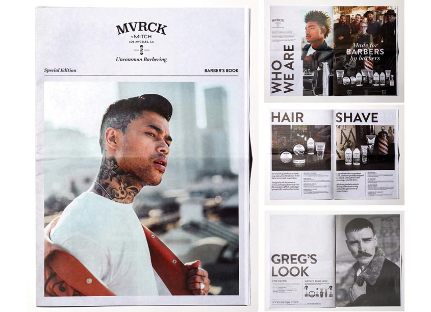 John Paul Mitchell Systems Creative Department MVRCK Barbers Book