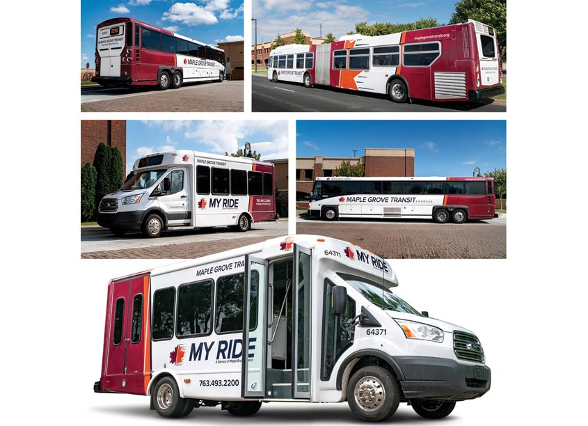 Transit & MYRIDE Bus Rebranding by Prime Advertising & Design