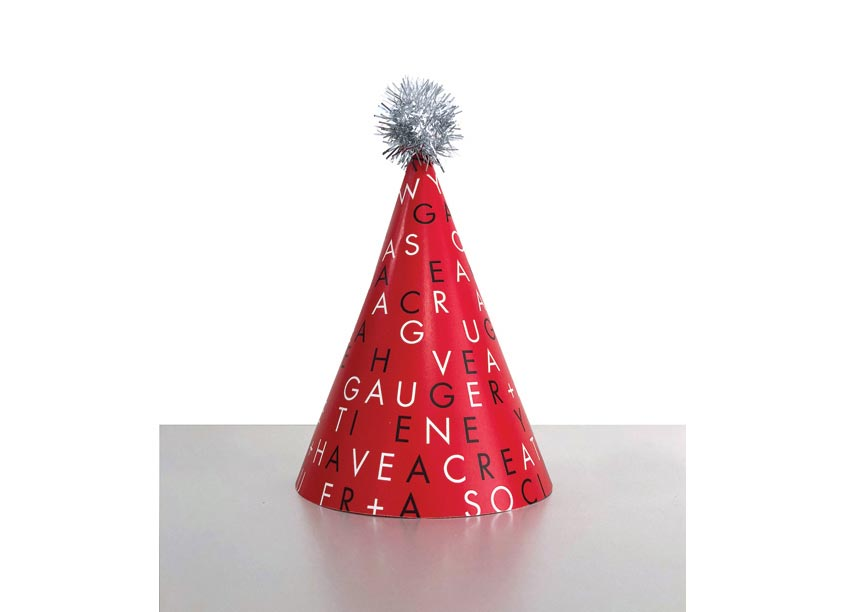 Gauger + Associates Holiday Party Hat Direct Mail