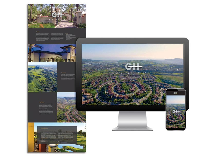 Gauger + Associates Geneva Holdings Website Design